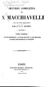 Oeuvres complètes de N. Machiavelli: Volume1