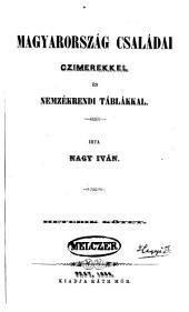Magyarország családai: Czimerekkel és nemzékrendi táblákkal, 7-8. kötet