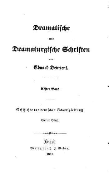Geschichte der deutschen schauspielkunst  bd  Das hoftheater  1861 PDF