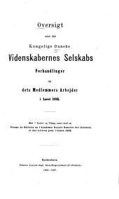 Oversigt over det Kongelige danske videnskabernes selskabs forhandlinger...