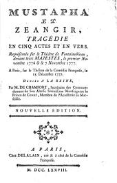Mustapha et Zéangir: tragédie en cinq actes et en vers