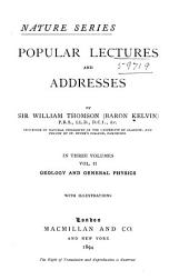 Popular Lectures and Addresses: Volume 2
