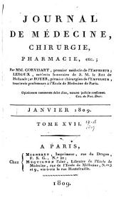 Journal de médecine, chirurgie, pharmacie, etc: Volumes17à18