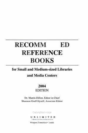 Recommended Reference Books for Small and Medium Sized Libraries and Media Centers 2004 PDF