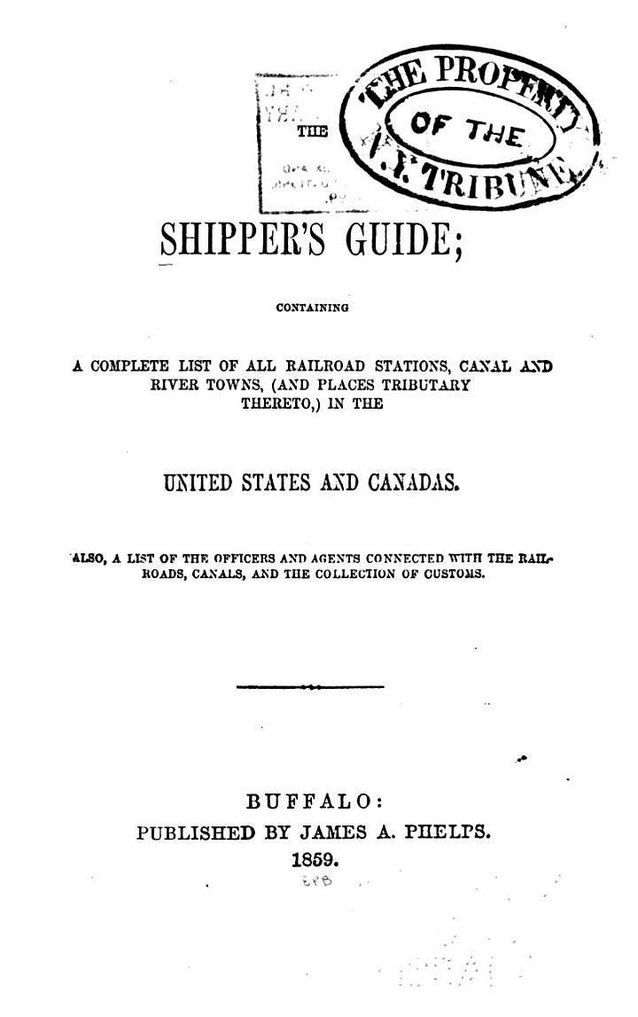 The Shipper's Guide