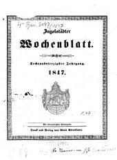 Ingolstädter Wochen-Blatt: Band 46