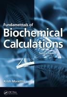 Fundamentals of Biochemical Calculations  Second Edition PDF