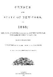 census of the state of new york for 1855