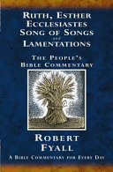 Ruth Esther Ecclesiastes Song Of Songs And Lamentations Book PDF