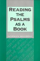 Reading the Psalms as a Book PDF