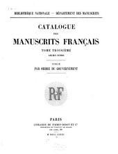 Catalogue général des manuscrits français: Volume3