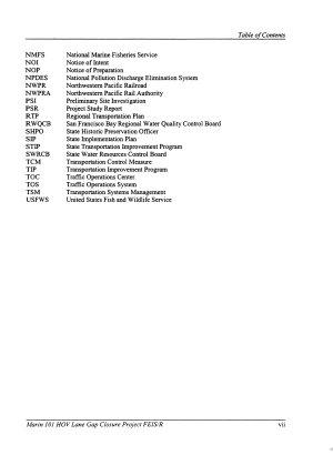 US 101 High Occupancy Vehicle  HOV  Gap Closure Project  Marin Cuunty PDF