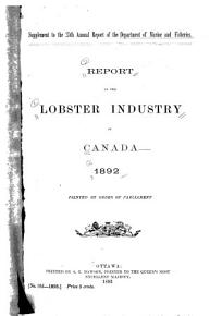 Report on the Lobster Industry of Canada  1892     PDF