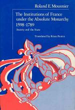 The Institutions of France Under the Absolute Monarchy, 1598-1789, Volume 2