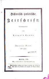 Historisch-politische Zeitschrift: Band 2