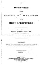 An Introduction to the Critical Study and the Knowledge of the Holy Scriptures PDF