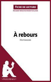 À rebours de Joris-Karl Huysmans (Analyse de l'oeuvre): Comprendre la littérature avec lePetitLittéraire.fr