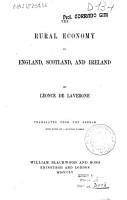 The Rural Economy of England  Scotland and Ireland PDF
