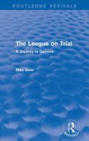 The League on Trial  Routledge Revivals  PDF