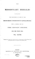 The Missionary Herald  For the year 1842 PDF