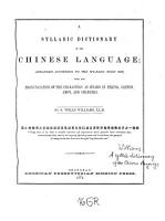 A Syllabic Dictionary of the Chinese Language PDF