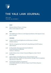 Yale Law Journal: Volume 125, Number 7 - May 2016