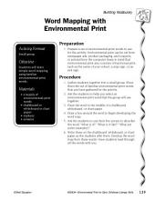 Environmental Print & Building Vocabulary: Word Mapping