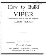 How to Build a Viper PDF