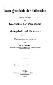 Gesamtgeschichte der Philosophie