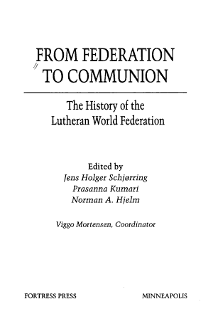 From Federation to Communion PDF