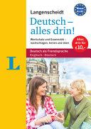 Langenscheidt Deutsch   alles drin    Basiswissen Deutsch in einem Band PDF