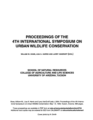 Proceedings of the 4th International Symposium on Urban Wildlife Conservation  May 1 5  1999 PDF