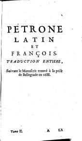 Pétrone: latin et françois, Volume2