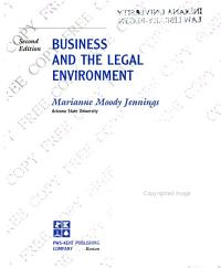 Business and the Legal Environment Book