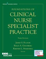 Foundations of Clinical Nurse Specialist Practice  Third Edition PDF