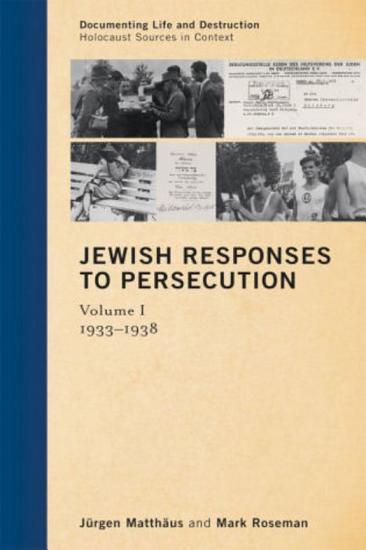 Jewish Responses to Persecution PDF