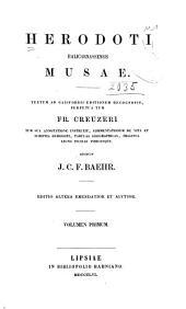 Herodoti Halicarnassensis Musae: Clio. Euterpe