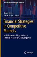 Financial Strategies in Competitive Markets PDF