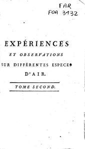 Expériences et observations sur différentes espèces d'air: Volume2