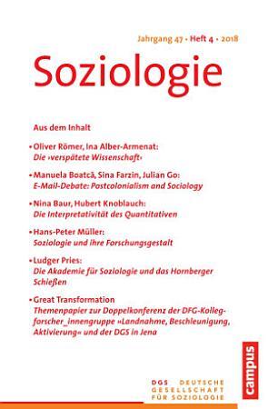 Soziologie Jg  47  2018  4 PDF