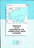 Irrigation in the Countries of the Former Soviet Union in Figures PDF