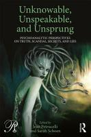 Unknowable  Unspeakable  and Unsprung PDF