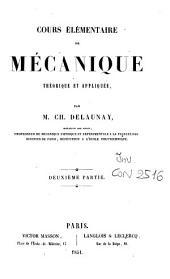Cours élémentaire de mécanique theorique et appliquée: 2!.