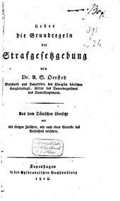 A.S. Oersted, Ueber die Grundregeln der Strafgesetzgebung Aus dem Dänischen überzetz