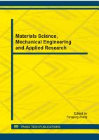 Materials Science  Mechanical Engineering and Applied Research PDF