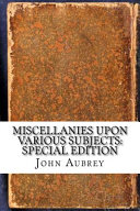 Miscellanies Upon Various Subjects PDF