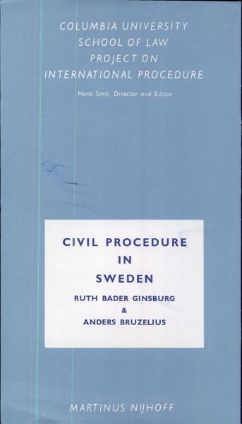 Download Civil Procedure in Sweden Book