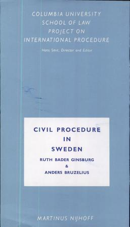 Civil Procedure in Sweden PDF