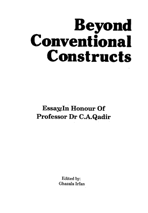 Beyond Conventional Constructs PDF