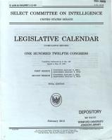 Legislative Calendar  Cumulative Record   S  Prt  112 49  112 1 2  February 2013 PDF